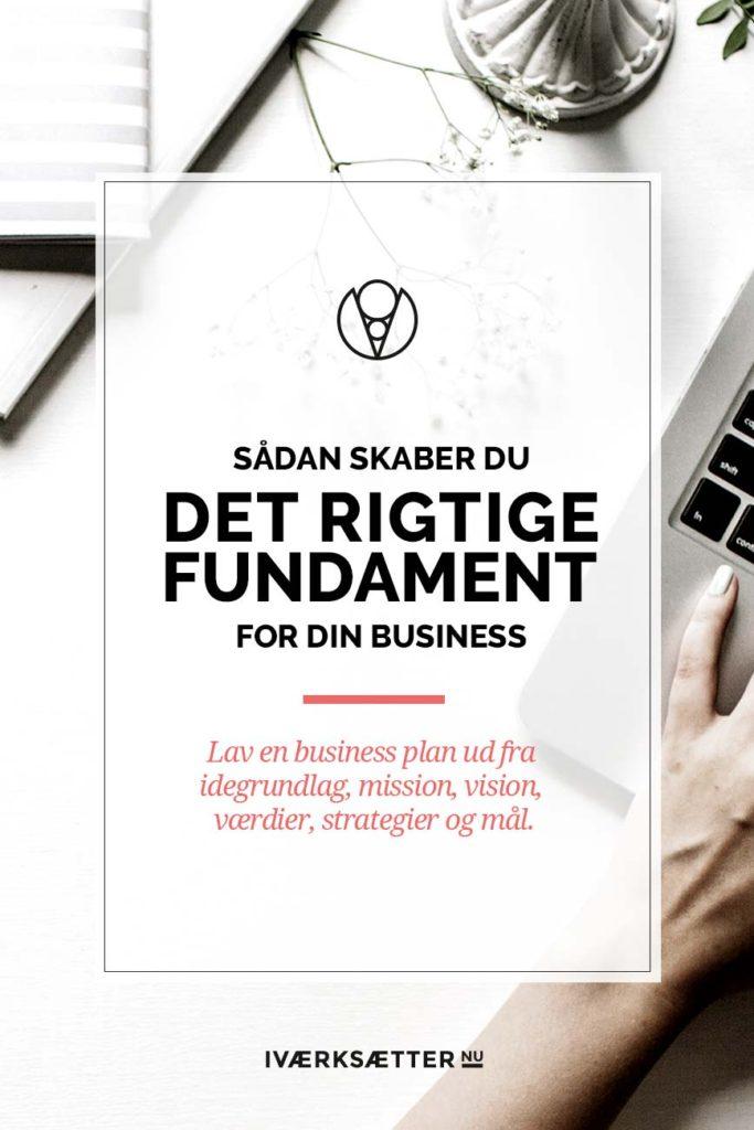 Det rigtige business fundament