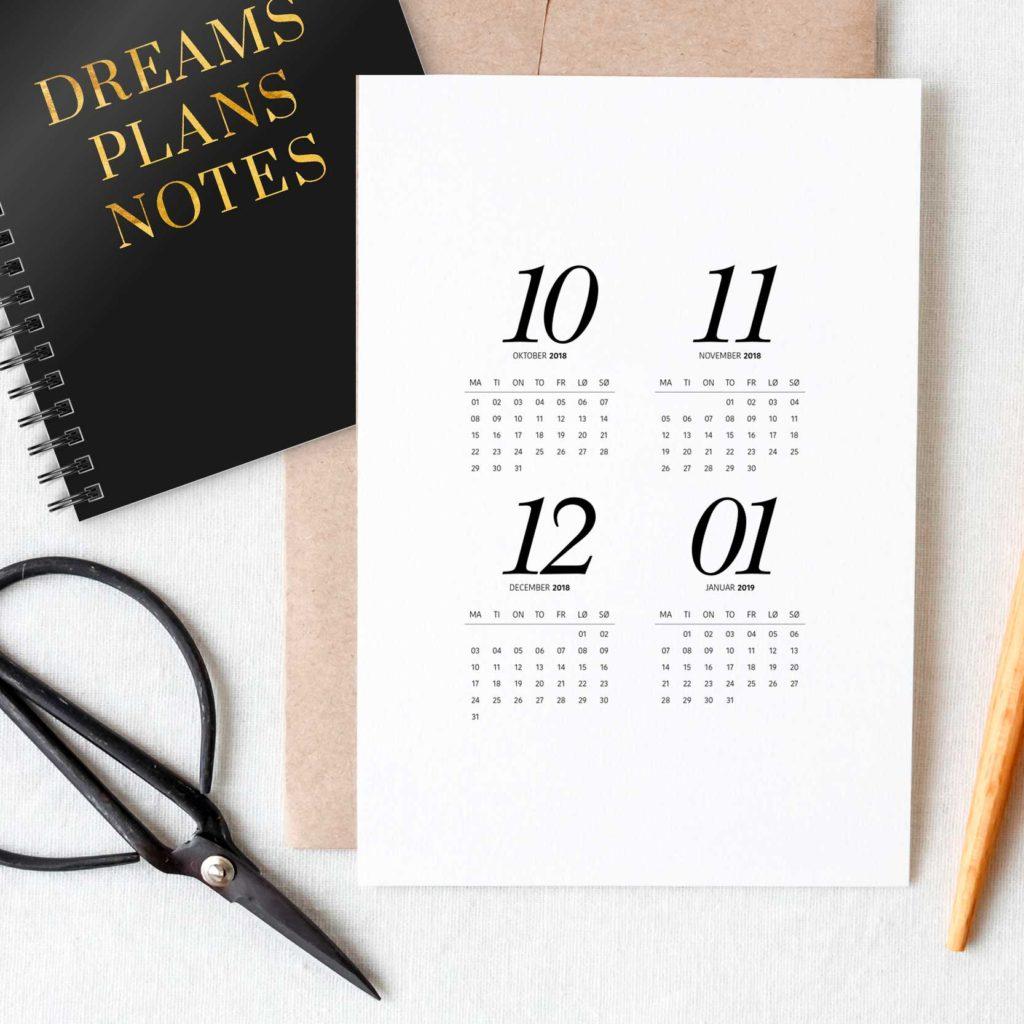 2019-kalender